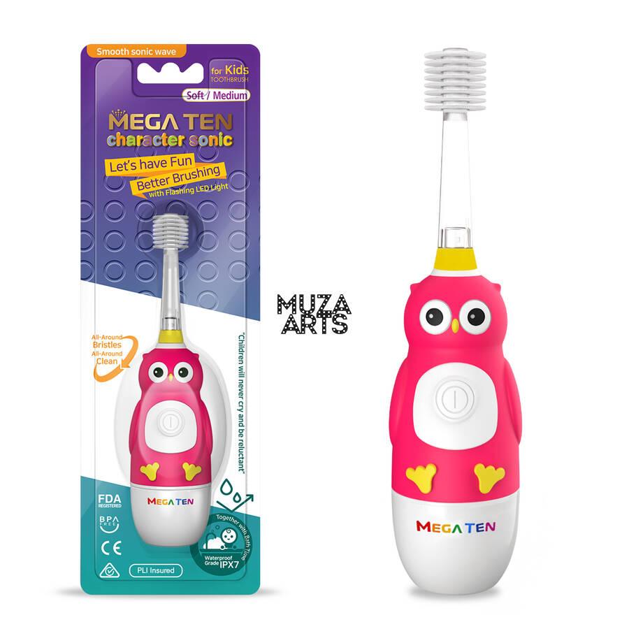 Детская электрическая зубная щетка Megaten Kids Sonic | Сова